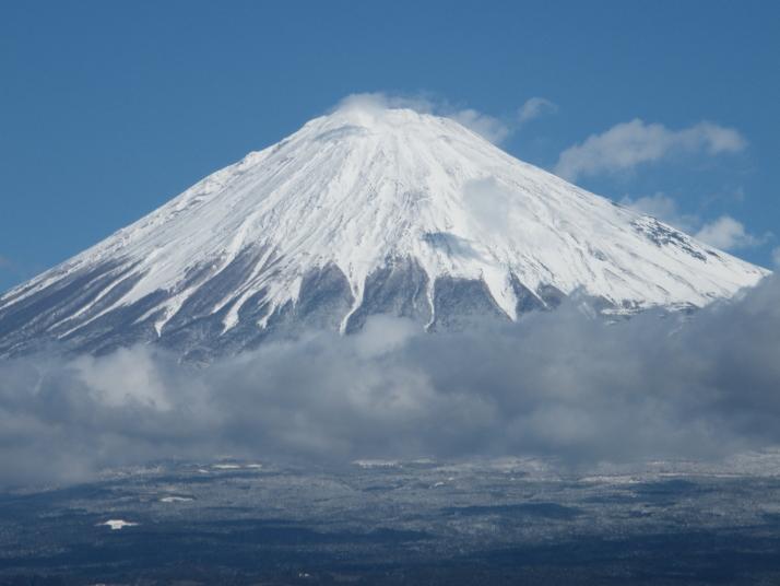厳冬ブルブル富士山